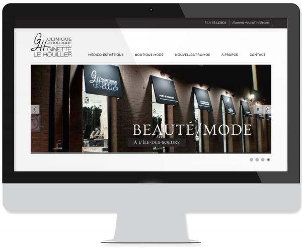 Site web Clinique et Boutique Ginette Le Houillier
