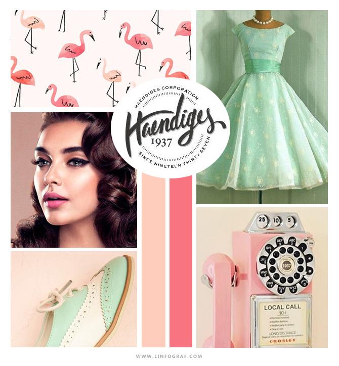 inspiration vintage couleurs menthe et rose bonbon