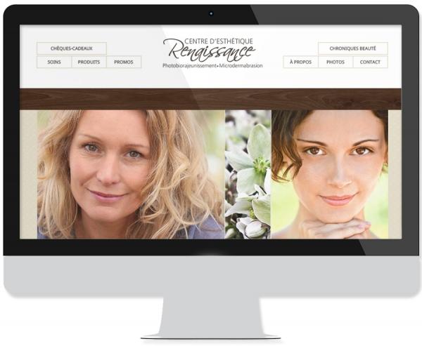 Site web design Esthétique Renaissance